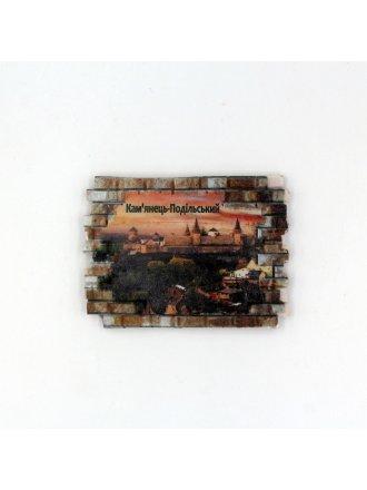 """Фотокерамічний магніт  """"Кам'янець-Подільський рожеве небо"""" #104080802"""
