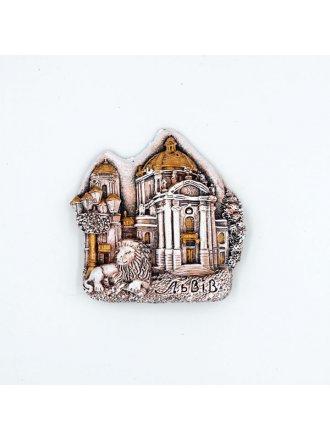 """Керамічний магніт """"Домініканський собор"""" #101080526"""