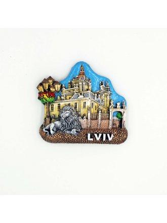"""Керамічний магніт """"Церква святого Юра"""" #101080510"""
