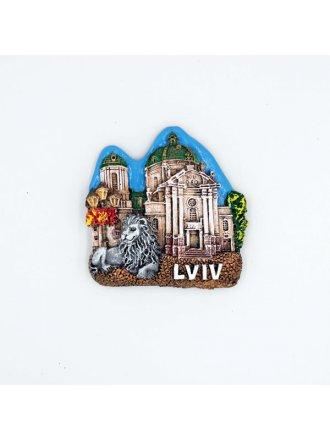 """Керамічний магніт """"Домініканський собор"""" #101080512"""
