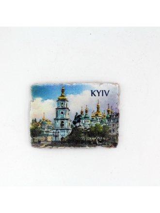 """Фотокерамічний магніт """"Софіївська Площа"""" #103080803"""