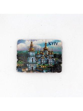 """Фотокерамічний магніт  """"Михайлівський Золотоверхий Монастир"""" #103080804"""