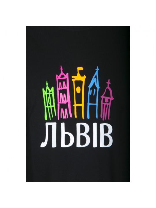 """Футболка чоловіча """"Львів відкритий для світу"""" #101190205"""