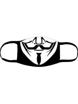 "Багаторазова маска з принтом ""Вендетта"" #102 22 03"