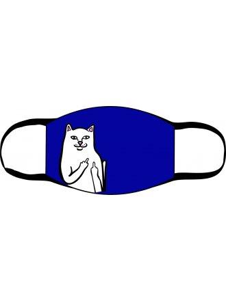 """Багаторазова маска з принтом """"Кіт брутал"""" #102 22 07"""