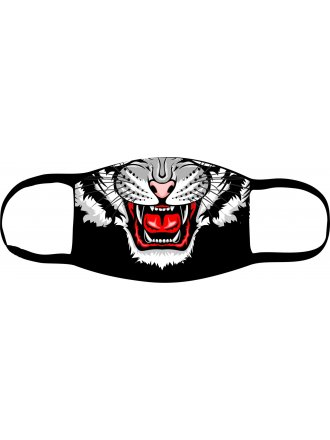 """Багаторазова маска з принтом  """"Тигр"""" #102 22 01"""