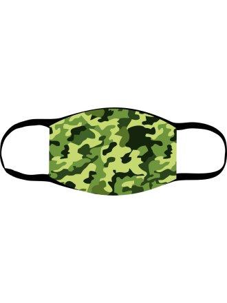 "Багаторазова маска з принтом ""Камуфляж зелена""  #1022218"