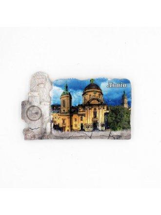 """Фотокерамічний магніт  """"Домініканський собор"""" #101080807"""