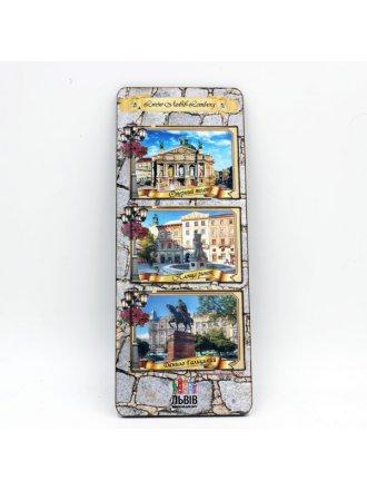 Набір дерев'яних магнітів Львів-Lviv-Lemberg #101080302