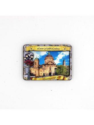 """Дерев'яний магніт """"Домініканський собор"""" #101080218"""