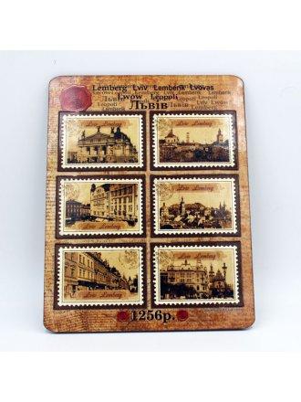 Набір дерев'яних магнітів #101080405